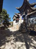 Magnificent Temple door in Yunnan royalty free stock photo