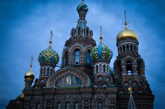 Magnificent temple. Stands majestically beautiful cathedral in St. Petersburg. This beauty will remain forever in our hearts Royalty Free Stock Images