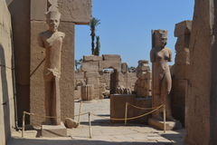 Temple of the Sun God Amon-Ra. The magnificent temple of the sun god Amon-Ra at Luxor stock photography