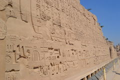 Temple of the Sun God Amon-Ra. The magnificent temple of the sun god Amon-Ra at Luxor stock image