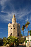 Magnificent Tower of gold in Seville royalty free stock images