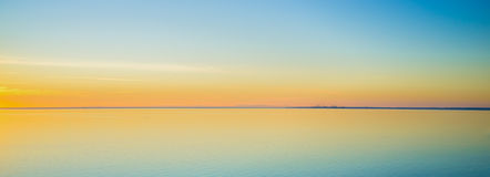 Magnificent tranquil waters at sunset on Mornington Peninsula. Australia stock images