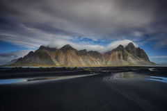 The Magnificent of Vesturhorn royalty free stock photography