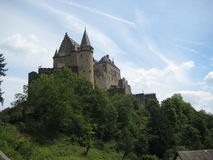 Magnificent Vianden castle stock photography