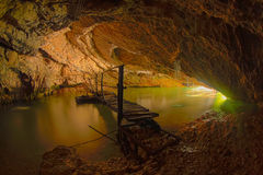 Magnificent view of the Aapstinskay cave, Abkhazia Royalty Free Stock Images