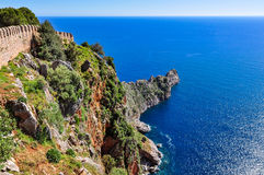 Magnificent view from Alanya castle Stock Image