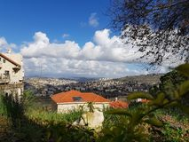 magnificent view of the city of Nazareth - Israel royalty free stock image