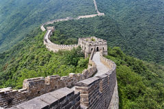 Magnificent view on the Great Wall, Beijing, China. Magnificent view on the Great Wall in a lush green environment, Beijing, China Stock Photos