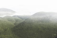 Magnificent view of a green mountain stock photography