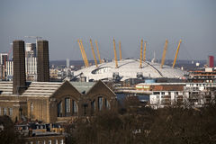 The magnificent view from the Greenwich Observatory taking in s Stock Photography