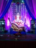 Magnificent view of lord ganesha in a shopping mall stock photography