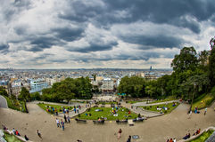 Magnificent view from Montmartre, Paris Stock Image