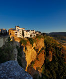 Magnificent view from the New Bridge of Ronda in Andalusia, Spain Stock Image