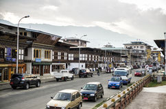 Magnificent view of Paro city in Bhutan Royalty Free Stock Photos