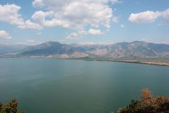 Magnificent view at Prespes Lake Florina Greece Royalty Free Stock Images