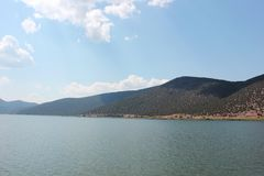 Magnificent view at Prespes Lake Florina Greece Royalty Free Stock Photography