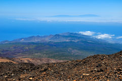 Magnificent view from Teide volcano Stock Photography