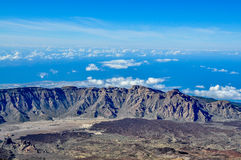 Magnificent view from Teide volcano Royalty Free Stock Photo