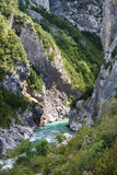 Magnificent view to Verdon Gorge. Provence, France Royalty Free Stock Photography