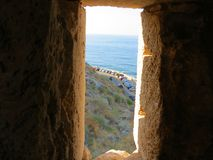 Rethymnon and the famous fortress of Fortezza stock photo