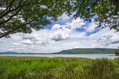 Magnificent views of Lam Takhong reservoir seen from Thao Suranari Park,Ban Nong Sarai,Pak Chong,Nakhon Ratchasima,Thailand. Royalty Free Stock Photos