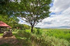 Magnificent views of Lam Takhong reservoir seen from Thao Suranari Park,Ban Nong Sarai,Pak Chong,Nakhon Ratchasima,Thailand. Royalty Free Stock Photo