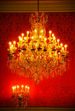 Magnificent vintage crystal chandelier Royalty Free Stock Photos