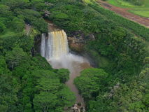 Magnificent Wailua Falls in Kauai Royalty Free Stock Images