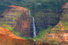 Magnificent Waimea Canyon (also known as Grand Canyon of the Pacific) in Kauai Island. Hawaii stock photo
