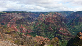 Magnificent Waimea Canyon (also known as Grand Canyon of the Pacific) in Kauai Island. Hawaii stock images