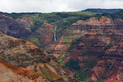 Magnificent Waimea Canyon (also known as Grand Canyon of the Pacific) in Kauai Island. Hawaii royalty free stock image