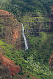 Magnificent Waimea Canyon (also known as Grand Canyon of the Pacific) in Kauai Island. Hawaii royalty free stock photography