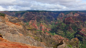 Magnificent Waimea Canyon (also known as Grand Canyon of the Pacific) in Kauai Island. Hawaii royalty free stock photo