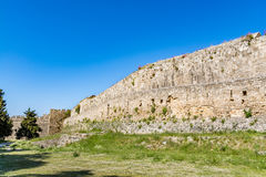 Magnificent walls of medieval city of Rhodes, Greece Royalty Free Stock Photography