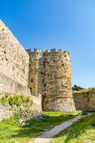 Magnificent walls of medieval city of Rhodes, Greece Stock Images