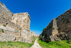 Magnificent walls of medieval city of Rhodes, Greece Stock Photography