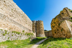 Magnificent walls of medieval city of Rhodes, Greece Stock Image