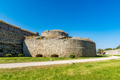 Magnificent walls of medieval city of Rhodes, Greece Royalty Free Stock Image