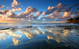 Magnificent water reflections at sunrise Royalty Free Stock Image