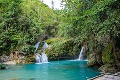Kawasan Falls on Cebu island in Philippines Royalty Free Stock Images