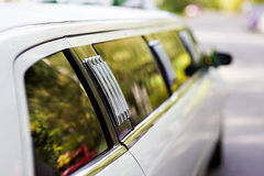 Magnificent wedding limousine Royalty Free Stock Photography