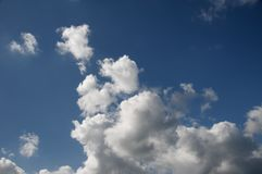 Magnificent white cumulonimbus cloud in blue sky. Australia royalty free stock photography