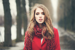 Magnificent Woman Outdoors Stock Image