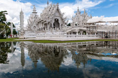 Magnificently grand white temple Rong Khun temple, Chiang Rai Royalty Free Stock Photos