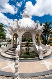 Magnificently grand white temple Rong Khun temple, Chiang Rai Stock Photos