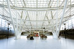 Train station, Charles de Gaulle airport, Paris Royalty Free Stock Photo