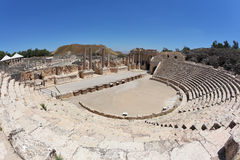 Magnificently Roman amphitheater in Israel Stock Photos
