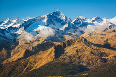 Magnificient Alpine Peak View, Italy, Alps Stock Photo