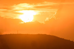Magnificient click of a sunset sky royalty free stock images
