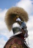 Magnificient Roman Helmet. Details of a Roman Soldiers magnificient helmet Stock Photo